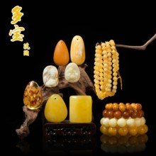 Honey wax hand string without pearl, pure natural authentic small pieces, 108 Buddha beads, sea floating seeds, old honey wax cake