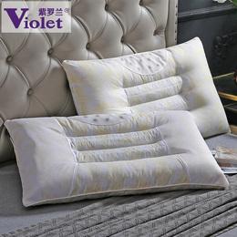 紫罗兰一对装 决明子枕芯枕头磁石枕学生单人护颈枕成人羽丝绒枕