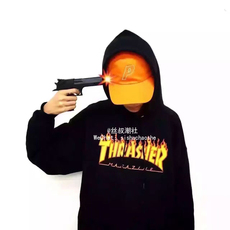 Толстовка Other Thrasher Flame Hoodie