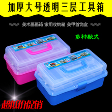 Hand-held Toolbox Foot Bath Technician Special Plastic Toolbox Beauty Salon Reception Box Double Ear Collection Toolbox