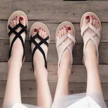 Sandals, fairies, students, lovely women's shoes, 2019 new shoes with skirts, all kinds of flats in summer