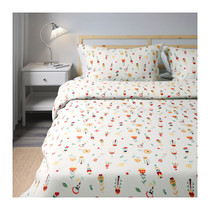 Purchase of new IKEA IKEA Robla quilt cover and pillowcase in white floral pattern