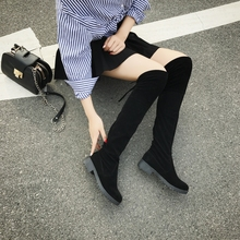 Knee boots, women's boots, boots, boots, new winter shoes, women's shoes, horse boots, plush cotton boots, boots, boots, boots, boots, flat bottomed high boots