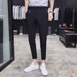 小码纯色韩版修身小脚女西裤