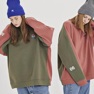 逆光女装冬季bf撞色中长款卫衣女韩版潮学生加绒加厚宽松ulzzang女装卫衣