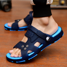 Sandals Men's Slippers Men's Summer 2019 New Bathroom Inner and Outer Slip-proof Slippers Dongdong Beach Shoes