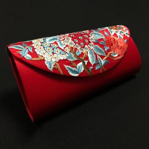 零月出品原创设计真丝复古刺绣旗袍包时尚信封包手拿包宴会女手包宴会包