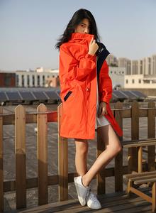 秋冬季户外冲锋衣女西藏旅游防风雨透气中长款外套风衣大码登山服冲锋衣