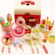 Children's birthday gift, girl simulation music cake, wood cut, cut baby, kindergarten toys