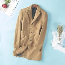 15771 autumn and winter new Korean single breasted medium length woolen coat