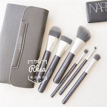 Brush bag with makeup brush set to brush bamboo charcoal fibers for beginners super soft