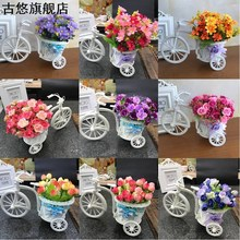 Artificial flower bar basin bicycle mobile phone shop glasses jewelry counter decorations potted ornaments wine cabinet table ornaments