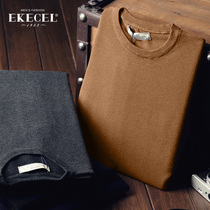 Fall winter mens leisure base slim head solid color t shirts
