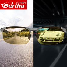 Day and night dual polarized night vision mirror to prevent sunlight drivers from driving discolouration sunglasses, male driving special Sunglasses