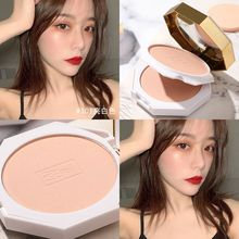 Double deck marble powder, durable makeup, oil control, micro flash, pearl light, matte, natural bright white powder, dry and wet.
