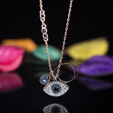 Ожерелье Swarovski Duo EVIL EYE