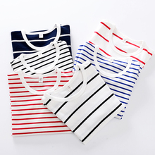 Children's Long Sleeve T-shirt, Boys'All-Cotton Stripe Top and Girls' Underwear