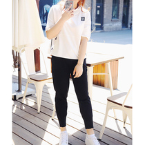 XI fat mm loose leisure leisurely attitude five sleeves two piece set