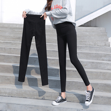 Wear black spring and Autumn New Plush high waisted Leggings
