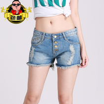 (Daily special) summer new stylish versatile slim womens denim shorts-three hot pants