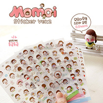�n�� �ɐ�С� PVC ��ճ�N��һ��6���� momoi sticker set ver2