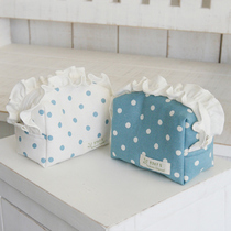�n���ُSOPUM_CHANNEL�ռ{��Blue dot linen pouch (2colors)
