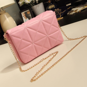 Baoyou 2014 new diamond latt chain bag Xiaoxiang wind retro obliquely across the Mini Bag Shoulder Bag Korean tide