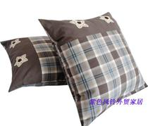 Foreign thick soft cotton sanded Twill woven square pillowcase holding pillow cases Cushion cover crochet appliques