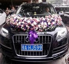 Свадебные цветы для украшения автомобиля 001