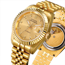 Genuine bachelor degree meter automatic mechanical watch waterproof 18K tyrant gold watch luminous gold color man watch