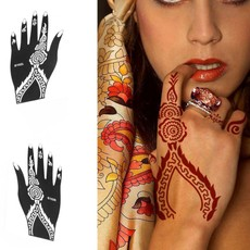234324 2Pcs/Set Left Right Hand Mehndi