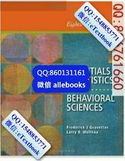 Essentials Of Statistics For The Behavioral