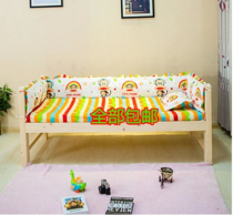 3 baby baby crib baby bedding cotton bedspread cotton solid wood kit Wai Wei