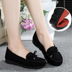 春季老北京布鞋女鞋平跟平底单鞋休闲工作鞋孕妇妈妈鞋豆豆鞋子女女鞋豆豆鞋