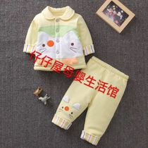Spring 2017 new thin baby clothes set newborn spring coat cotton baby clothes-6 months