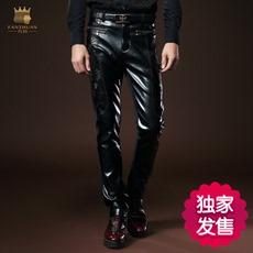 Кожаные брюки Where the transfer 518054